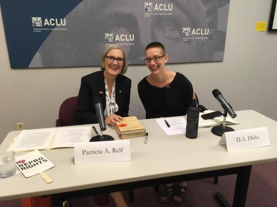 Pat Relf and D.A. Dirks at ACLU Ohio, July 6, 2017
