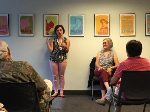 Cristina Otonoga, Pat Relf at Preterm Cleveland Aug 14, 2017