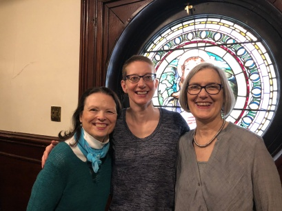 Abigail Hastings, D.A. Dirks, Pat Relf at Judson Memorial Church, April 15, 2018