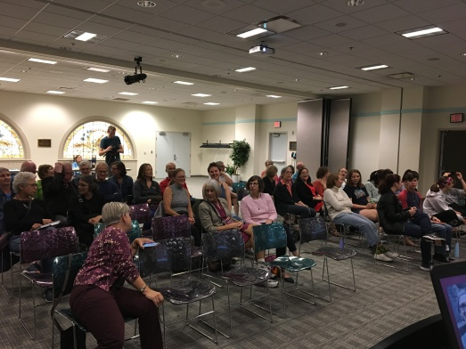 Audience gathers at Kalamazoo Public Library, 9/26/19